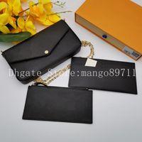 여자 지갑 가방 핸드백 지갑 원래 상자 날짜 코드 패션 카드 지갑 전화 가방 어깨 가방