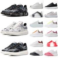 2021 designers de moda preto branco desenhos animados rabisco espadrille homens mulheres homens mulheres 3m plataforma superized sneaker sapatos legais sapatilhas com caixa