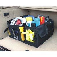 قابل للطي تخزين مربع تخزين مربع صندوق أدوات السيارة الخلفية التمهيد أدوات متعددة الاستخدام مرتبة المنظم أكياس التسوق LJ201119