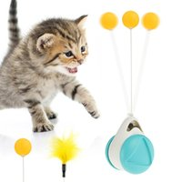 Kedi Dengesi Salıncak Araba Interaktif Oyuncaklar Kedi Tüy Oyuncaklar Kapalı Chase Için Kendinden Dönen Top Rulo Catnip Pet Oyuncak