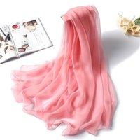 Bufandas 2021 primavera verano mujeres bufanda moda sólido clásico gran tamaño dama seda hijabs foulde female playa estolas