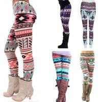 Leggings de otoño de las mujeres Girl Winter Legging Botters Copo de nieve Ciervos de Navidad Estampado Leggings Mujer ropa Jeggings1