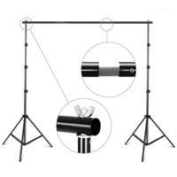 8.5ftx9.8ft / 2.6m x3m suporte de suporte de suporte de suporte ajustável Fotografia de estúdio de estúdio de suporte de fundo com saco de transporte1