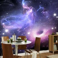 Sfondi Drop Custom personalizzato qualsiasi taglia 3D wall murale wallpaper per pareti moderno astratto universo stelle stelle galassia soffitto 3D1