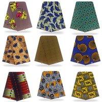 Nuovo africano Cera tessuto Wrap Tissu Stretch nigeriano Ankara 100% 6yards d'argento dorata Top Line cotone di qualità Materiale Wrapper