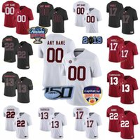 Coutume Alabama Crimson Tide College Football Jersey 24 Brian Robinson Jr. 32 Dylan Moses 4 Jerry Jeudy 44 Forrest Gump Hommes Cousu