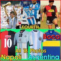 Maradona retro napoli Quarta camisa de futebol 93 81 87 88 89 1986 78 94 98 2001 06 NEWELLS OLD BOYS Argentina boca Juniors jogos de camisas de futebol