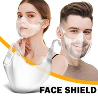 Доставка DHL Пластик прозрачный Wphome Прочный Face Mask Clear Объединить Shield Маска многоразового бинты Face Clear 2020 Mouth Masque FY7284