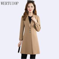 Wertuiop 2019 NUEVO otoño e invierno mujeres abrigo de lana ropa femenina mujer chaqueta con cortaveja larga slim más tamaño exterior ropa exterior1