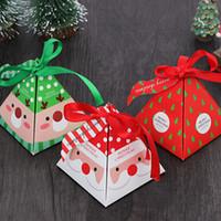 Noel Hediye Kutusu DIY Kağıt Hediye Kutuları Noel Sunarlar Parti Dekorasyon Paketleme Çikolatalı Çerez Hediye Paket IIA795