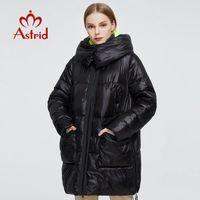 Astrid mujeres de la capa 2020 nuevos mujeres de invierno caliente larga de la chaqueta de la moda parka con capucha Bio-Down ropa femenina estrenar Diseño 7253