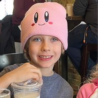 Милая улыбка глаза Хоши вышитая вязаная теплая крышка хип-хоп шерстяная шапка OB8Z