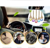 Renkli araba parfüm şişesi araba kolye parfüm süsleme hava spreyi uçucu yağlar difüzör kokusu boş cam şişe DHL