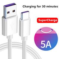 Câble Supercharge de 1M 5A pour Huawei Samsung Moto LG Cable USB Type C Câble USB 3.1 Câbles de charge rapide de type C