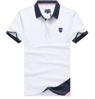 Erkek Polos Nakış Boyun Parkı 2021 Strech Pamuk Erkekler Kısa Kollu Gömlek Homme Yüksek Kalite Trend Stil Gömlek M-3XL