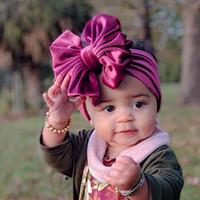 15 цветов ребёнки Velvet Лук ободки Детские Bowknot Принцесса Твердая Группа волос Аксессуары для волос Дети HHA1665
