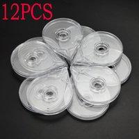 12pcs Nail Art Striping Tape Linha caixa plástica Limpar ouro Sliver Caso fio armazenamento prego etiqueta Titular Extração Plastic Box Etiqueta Ferramenta