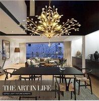 Подвесные светильники Современные золотые раковины хрустальные дома потолочные светильники светильника промывки крепление, подвесные световые люстры освещения для спальни гостиной