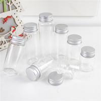 Diámetro 37 mm Botellas de vidrio vacías transparentes 25 ml 30ml 40ml 50ml 60 ml 70 ml 80 ml 90 ml de plata de aluminio plateado viales recargables
