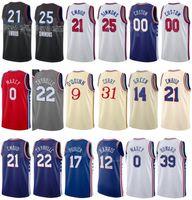 Imprimir Baloncesto Ciudad Ganada Edición Tobias Harris Jersey 12 Seth Curry 31 Shake Milton 18 Mike Scott 1 Joel Embiid 21 Ben Simmons