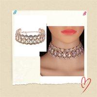 Art und Weise Frauen-Charme-Kristallrhinestone-Halskette adjustale Messing-Kette für Frauen: Bunt Hochzeit Statement Schmuck
