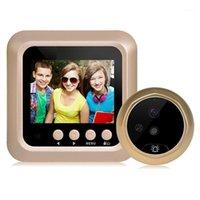 جرس الباب 2.4 بوصة LCD اللون SN 160 درجة ir ليلة باب ثقب الباب كاميرا بو / تسجيل الفيديو كاميرا رقمية 1