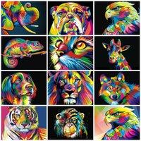 50x40cm peint bricolage peinture par nombre d'animaux peints adultes peints peints images peinture huile cadeau cadeau coloriage décoration murale