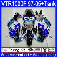 + Tank für Honda Superhawk VTR 1000 F 1000F VTR1000 F BODYS 56HM.147 VTR1000F 97 02 03 04 05 1997 2002 2003 2004 2005 Verkleidungen Blue Repsol