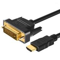 3D 1080p to DVI 케이블 어댑터 DVI-D 24 + 1 핀 남성 남성 모니터에 대 한 남성 금 도금 HDTV 프로젝터 PS4 2m 3m 5m DVI1