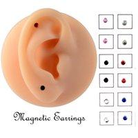 12pcs / carta Falso Cheater Non Piercer Magnete Ear Tragus Cartilagine Labbra Labret Stud Naso Anello gioielli orecchino magnetico Q SQCWQI