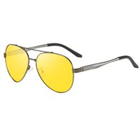 Neue Nachtsicht polarisierte Sonnenbrille Mode für Männer Aluminium Magnesium Sun-Glas-Gelb Objektive Sommer Frühling Leg Shades 174