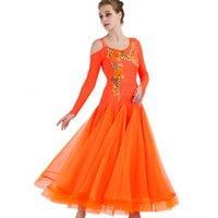 Donne arancione Waltz Dance Dress Ballroom Dre Abito da ballo Standard Ballroom Competition Bringe Watz Wear