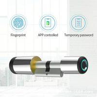 Bluetooth Electronic Cylinder Biometric Fingerprint Door Home Security Password Smart Lock 201013