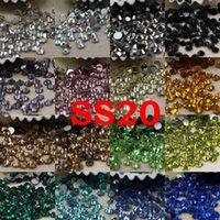 SS20 24 cores cerca de 1440 pcs 3D Nail Art Glass Rhinestone Não Hotfix Flatback Cola em Rhinestones para DIY Jllmcg