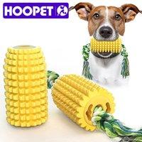 Hoopet لعب مضحك التفاعلية مضغ لعبة ل الأسنان نظيفة الذرة المول عصا كلب الأسنان فرشاة LJ201225