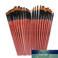 6 pçs / set Nylon Hair Material Pen Escovas Brown Pintholder Artista Pintura Escovas Definir pintura Artesanato Aquarela Aquarela Acessórios