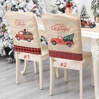 رئيس الديكور عيد الميلاد غطاء كرسي عيد الميلاد تصميم شجرة هدية شعرية السيارات شجرة عيد الميلاد المطبوعة غطاء كرسي منقوشة الأحمر سائق الشاحنة الغلاف CZ110201