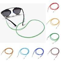 2020 أزياء مطرز كريستال نظارات مكبرة الرقبة الشريط سلسلة كاندي اللون نظارات الحبل الخرز حبل عدسة مكبرة حامل الحبل