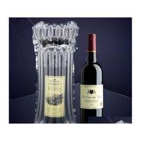 Luftspalte aufblasbare Weinbeutel Luftkissen-Bubble-Glas-geschützte Tasche schützende aufblasbare Blase-Wein-Wrap-Tasche für Flasche LFUKI