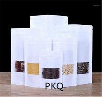 5pcs / 세트 화이트 선물 크래프트 종이 가방 스낵 백 포장 소매 공예 종이 캔디 포장 가방 Window1