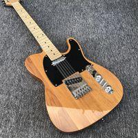 جودة عالية الغيتار الكهربائي، TL ستايل، 12 سلسلة الغيتار الكهربائي اللون الطبيعي، غيتار كهربائي مخصص، شحن مجاني