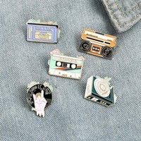 Rock till död emalj pin vinyl skivspelare musikband kassett brosch väska lapel pin old school badge smycken gåva till vänner zdll0920.