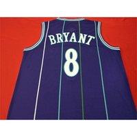 Mamba Out Mor Yeşil # 8 K B Otantik Nakış Basketbol Vintage Kolej Forması Boyutu S-XXL veya Özel Herhangi Bir Ad veya Numara Forması