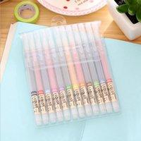 24 / 36pcs Penne colorate trasparenti Penne Kawaii Pittura Gel Pens Creative Art 0.3mm Pens per Regali Scuola Ufficio scolastico Cancelleria coreana