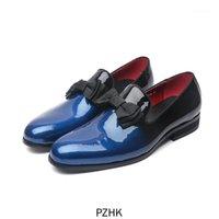 Chaussures de robe Zapatos de Vestir Boda Hombres Cuero Véritable Lujo Marca La Contazo Mocasines Formaltes1