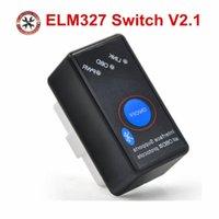 I lettori di codice Strumenti di scansione Top Vendita Super Mini ELM327 Bluetooth con interruttore di accensione / spegnimento ELM 327 OBD2 Scanner Diagnostico Supporto multi-marchio