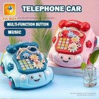 3wbox telefone telefone fixo musica de carro com enigma de brinquedo led cedo drag policial pull chries presentes bebê chocatles piano para bebê lj201114