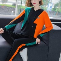 2020 New casual sweater sports suit women' s autumn fash...