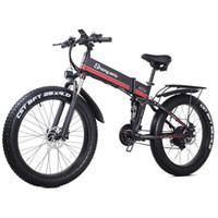 26-Zoll-Falten-elektrisches Fahrrad 4.0 Fettreifen elektrische Schnee-Mountainbike-Lithium-Batterie-Fahrrad