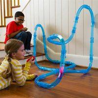 / set Детская головоломка собрана пульт дистанционного управления дорожками автомобиль электрический светоизлучающий высокоскоростной трубопроводный трек гоночный мальчик игрушка LJ201209
